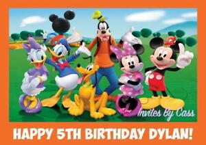 MICKEY MOUSE CLUBHOUSE A4 EDIBLE IMAGE CAKE TOPPER BIRTHDAY PARTY KIDS
