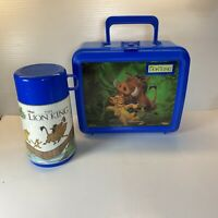 Vintage Disney The Lion King Plastic Lunch Box Simba Hakuna Matata With Thermos