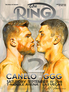 CANELO vs GGG 2 FACEOFF Official Onsite fight poster by Richard T. Slone 18 X 24