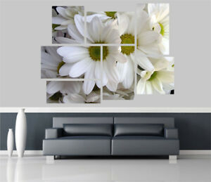 White Lilys Flowers Removable Self Adhesive Wall Picture Poster 1265