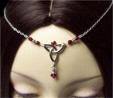 ^v^Stirnschmuck*Garnet Celtic*Gothic*LARP*circlet*medieval*Tiara*keltisch^v^