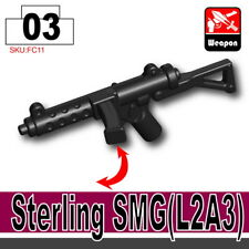 Sterling SMG (W294) WW2 British compatible w/toy brick minifigures
