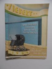 1939 O.W. Siebert Co Baby Carriage Stroller Pram Cart Catalog Vintage Original