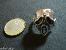 anello teschio metallo argento regolabile affare bigiotteria skull