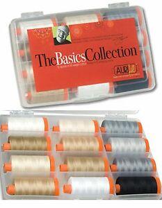 Aurifil Thread 50 wt Cotton 12 Spools - The Basics Collection by Mark Lipinski