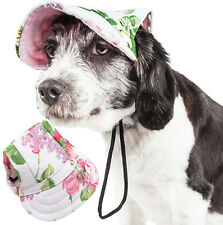 Pet Life 'Botanic Bark' UV Protectant Adjustable Fashion Pet Dog Hat Cap