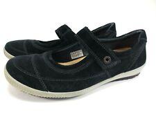 LEGERO Spangen Ballerinas Leder Schuhe blau Gr. 42,5 UK 8,5