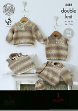 KINGCOLE 4488 BABY DK KNITTING PATTERN  14-22IN -not the finished garments