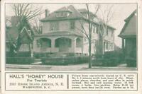 "Washington, D.C. - Hall's ""Homey"" House - Tourist Hotel Advertising"