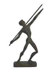 Javelin Thrower Athlete Bronze Figure - Ancient Greece Olympic Games sport