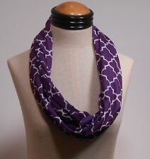 Quatrefoil Infinity Scarf - Jersey Knit - Purple  3-5 day FREE delivery USA