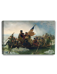 DecorArts-Washington Crossing the Delaware Art Reproduction Giclee Print Canvas