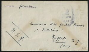 US 1942 WWII GERMAN POW AT INTERNMENT CAMP IN JAMAICA SENT TO AMERICA AID FOR