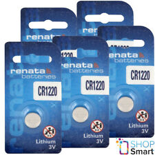 5 RENATA CR1220 LITHIUM BATTERIES 3V CELL COIN BUTTON ECR1220 EXP 2023 NEW
