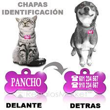Chapa identificación/Placa identificacion collar gatos y perros GRABADO INCLUIDO
