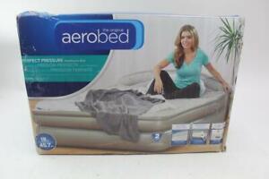 AeroBed Headboard Grand Lit Air Mattress with Headboard - Gray, Queen