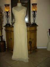 Jessica McClintock light Yellow  low cut Prom Party Formal low Price Dress 8