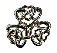Estaño Nudo Celta Triangular Bufanda Pin/Brooch