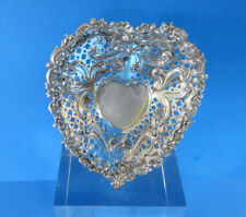 Sterling Silver Gorham Heart Shaped Dish with Ribbon Design -- Free Shipping *