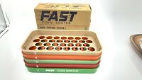 Vintage Fast Coins Speed Sorter 5 Colored Compact Interlocking Trays Handy