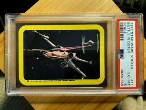 1977 Topps Star Wars Sticker #11 Battle In Outer Space- PSA 6 EX-MT