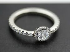 Genuine Pandora Silver Classic Elegance Clear CZ Ring Size 7.5  190946CZ-56