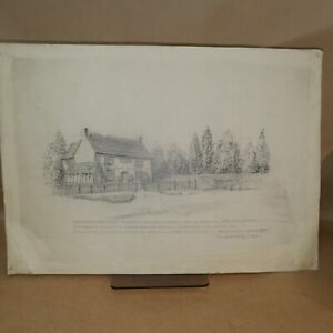 ca.1910 pencil drawing by H.J.Whitman : Fromow's Cottage, Chiswick