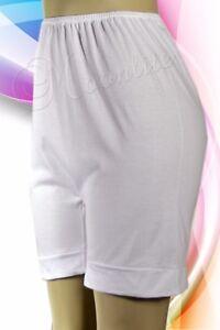 """100% Cotton White Pettipants Bloomer Short 18"""" Length M L XL 2XL 3XL 4XL 5XL 857"""
