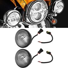 1 Pair 4.5 inch Motorcycle LED Fog Light Round Driving Lamps for Eagle Electra
