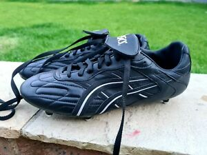 Vintage RetroAsics Gel Soft Ground Mens Football Boots Size UK 11 Classic Black