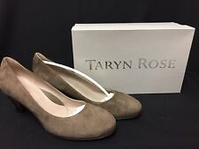 NIB Taryn Rose Taupe Suede Leather Heels Made in Italy sz 8/40 FS