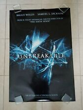 Unbreakable movie poster - Bruce Willis, Samuel L. Jackson