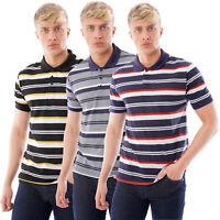 Mens Striped Polo Shirt Short Sleeve Pique T Shirt Premium Designer Summer Top