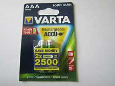 2x AAA 1000mah batterie nickel-hydrure hr03 varta ar1488