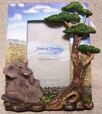"Picture Frame Jungle Elephants 7 ½"" x 8 ½"" for 4"" x 6"" picture or mirror NEW"