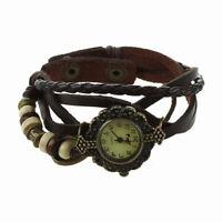 Damen Geflochtene Haut Quarzuhr Liebe Armbanduhr () U7Y9