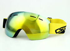 Rimless Mirror Snowboard Snow Goggles Ski Protective Eyewears Dual Lens Antifog