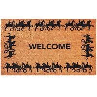 Horse and Carriage 18 x 30 Inches Natural Coco Coir Outdoor Welcome Rug Doormat