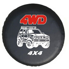 """16""""  4WD 4X4 Black Spare Tire Cover Wheel Covers for All Cars Diameter 76~79cm"""