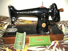 singer sewing machine 201k  bobbins + extras + cleaned & oiled