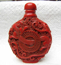 Free shipping Chinese folk  hand-carved -Superb Unicorn snuff bottle