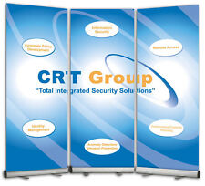 Trade Show Display Backdrop Wall  3 Retractable Banner Stands + Banners & Design