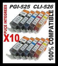 10 d'encre PGI 525 CLI 526 BK / Color pour Canon MG5150