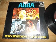 "ABBA ""MONEY,MONEY,MONEY / CRAZY WORLD"" NCB 7 "" SINGLE 1976 POLAR RECORDS SWEDEN*"