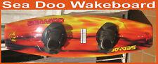 New listing Wakeboard Sea Doo Fire Red w Bindings * Case 142 Cm