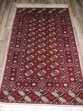 4x7ft. Handmade Turkoman Bokharra Wool Rug