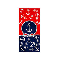 Premium Anchors Large Beach Towel, 100% Cotton Soft Turkish Bath Towel