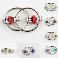 Bike Chain Fidget, Finger Spinner, Red,~ Stress Relief,  ADHD, Sensory, Autism