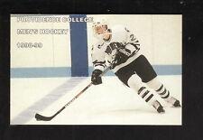 Providence Friars--1998-99 Hockey Pocket Schedule--Tucker Anthony