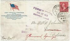 1898 Tampa, FL cancel on cover for Army Chritstian Commission (YMCA)